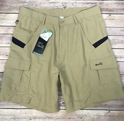 Columbia XCO Mens Size L Orange Lined Built In Belt Hiking Cargo Trunks Shorts