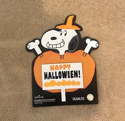Hallmark Peanuts Pumpkin Decorating Kit featuring Snoopy