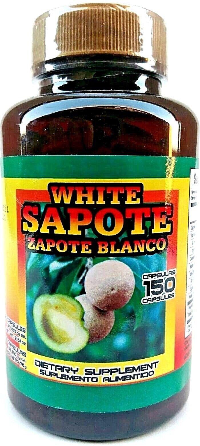 ZAPOTE BLANCO 150 CAPSULES WHITE ZAPOTE SUPPORT HIPERTENSION PRESION ARTERIAL