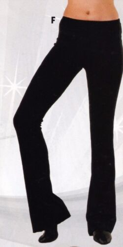 NEW Bootcut Satin Spandex Black Jazz Pants Wolff Fording 86002/3 Ch/Ladies/Mens