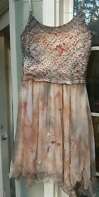Zombie Prom Dress (Dead Corpse Bride Prom Dress Costume Halloween Cosplay Junior Med 6 7 8)