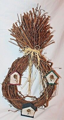 Craft Birdhouse Brown Dry Twigs Branch Sticks Wall Outdoor Indoor Hanging Decor  Twigs Outdoor Wall