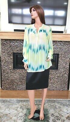Multi Color Pastel (Women's multi color pastel semi sheer chiffon blouse shirt top plus sz 18W 20W )