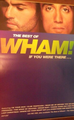 "WHAM! Best of 40x60"" 1997 George Michael HUGE BUS SHELTER POSTER If You Were The"