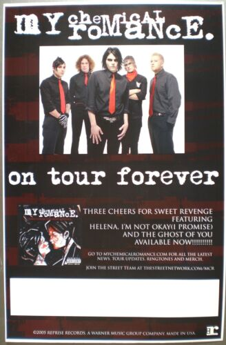 """MY CHEMICAL ROMANCE """"ON TOUR FOREVER"""" U.S. PROMO POSTER - Alternative Rock Music"""