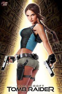 Art Design Girl-Lara Croft Tomb Raider Silk Cloth Poster 20 x 13