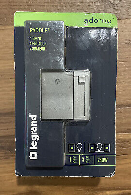 Legrand Adorne 450-watt Single-pole3-way Ledcflincandescent Dimmer Magnesium