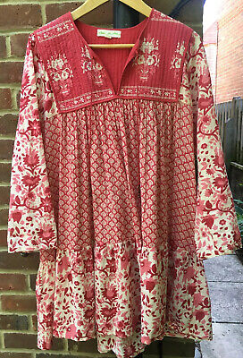 Staring At The Stars Prarie Indian Vintage Style Dress L 12 14