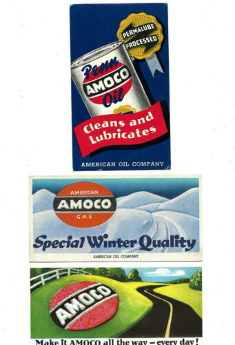 Vintage Amoco Oil & Gas Ink Blotters......Lot of 3 Different