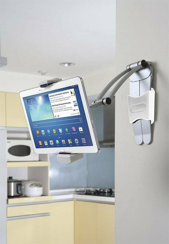 Tablet Stand Holder Clamp Counter Table Wall Mount Stand Adj