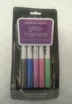 (American Crafts Galaxy Marker 5-Pack, Broad Point, Multi Color)