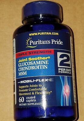 Puritan's Pride Triple Strength 1500mg Glucosamine Chondroitin & MSM 60 USA