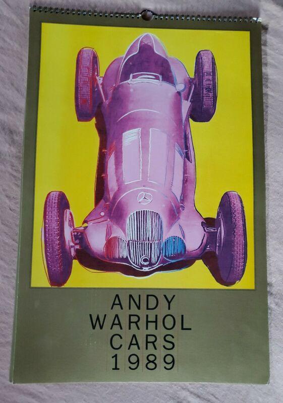 VTG Andy Warhol Mercedes Benz 1989 Calendar Collectible, PINK VERSION, Car Art