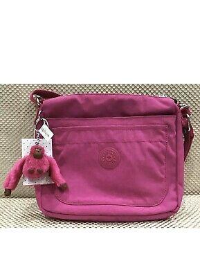 Kipling Sebastian HB6877 Printed Crossbody Bag Very Berry Splash