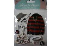 NEW 7 pc ALTERNATIVE BOY Hoodie Hat Game Boy Belt Shoes JOLEE/'S 3D Stickers