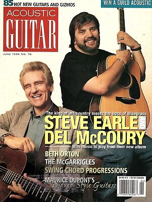 Acoustic Guitar Magazine #78 June 1999 - Steve Earle and Del McCoury,
