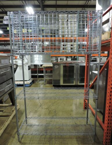 Commercial Security Cage and Wire Rack Shelving