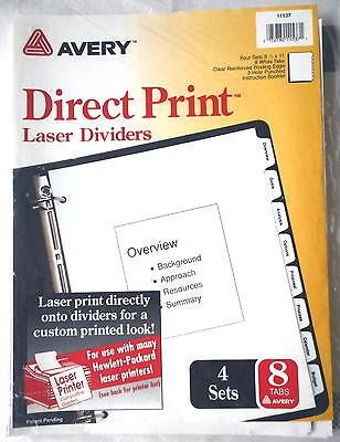 4 Sets of Avery Dennison 11537 Direct Print 8 Tabs Laser Printer Dividers  ()
