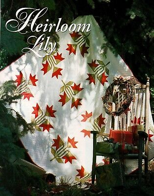Heirloom Lily Quilt Pattern Pieced - Lily Quilt Pattern