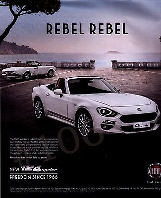 New FIAT 124 SPIDER Rebel Rebel - 2017 Car ADVERT