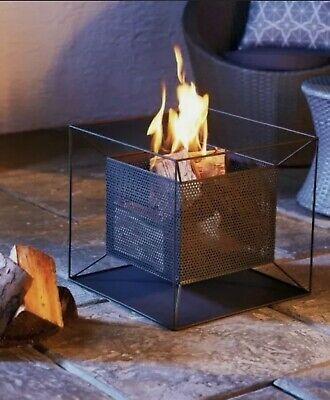 Garden Fire Pit Basket Patio Heater Log Wood Charcoal Burner Fireplace Black