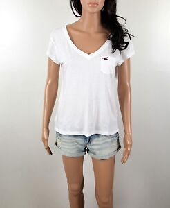 2013 Newest Hollister Women's T Shirt Breakwall Easy Fit V Neck  By Abercrombie