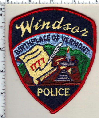 Windsor Police (Vermont) Shoulder Patch from 1989