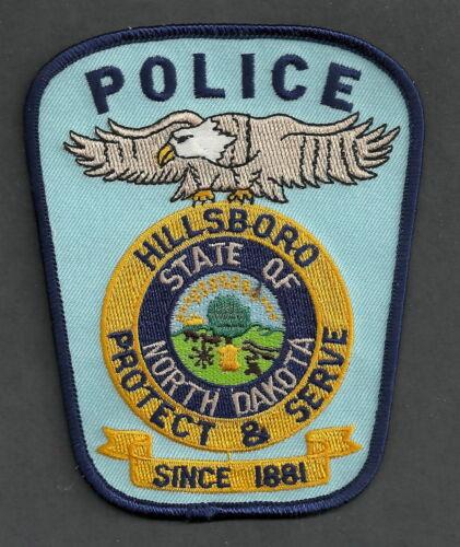 HILLSBORO NORTH DAKOTA POLICE SHOULDER PATCH BISON