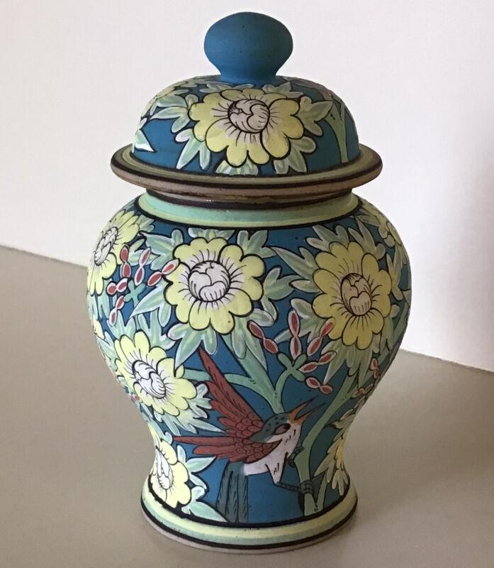 "BAAN CELADON ~ Chiangmai ~ 5 1/2"" Ginger Jar ~ Matte Exterior Finish ~ Ca. 1998"