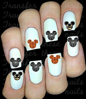 Minnie Mouse Halloween Nail Art (Mickey Minnie Mouse Halloween 30 stickers autocollant ongles manucure nail)