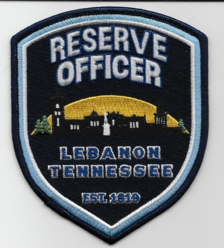 Reserve Offc Lebanon Police State Tennessee TN