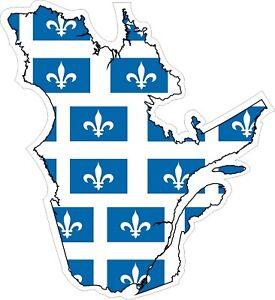 Quebec-Map-Flag-Decal-Sticker
