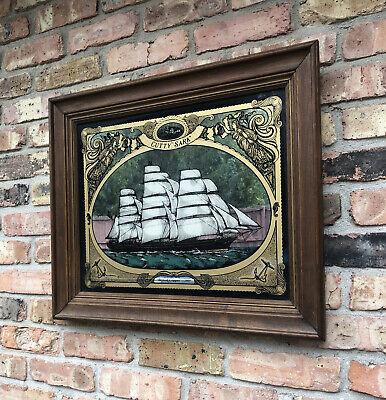 """Vintage CUTTY SARK Bar Mirror British Clipper 1869 24.5""""x20.5"""" Whiskey"""