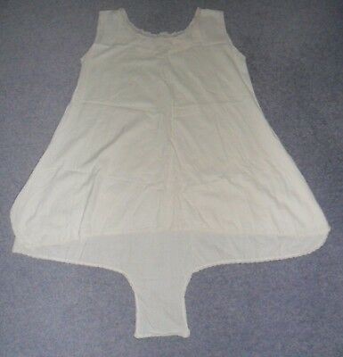 Vintage Nightdress/Cami Knickers 1920s White Cotton Lace Trim 44 Inch Bust