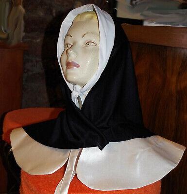 1 Nonnenkragen mit Kopfbedeckung Sister Act Halskrause Fasching Kostüm Karneval