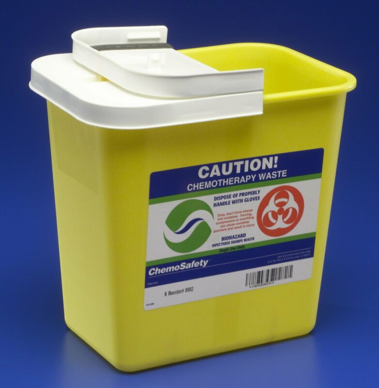 Chemotherapy Sharps Container, SharpSafety 1-Piece, Gallon, 8982 - Case of 20