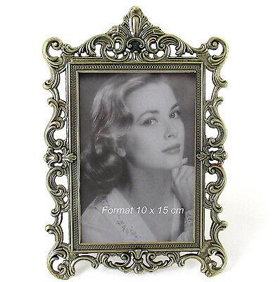 Fotorahmen Rahmen Bilderrahmen Metall Antik Barockrahmen Messing 10 x 15