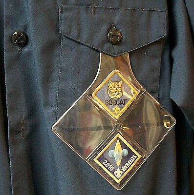 Cub Scout Rank Pocket Patch Protector Holder BSA Cub Display for Uniform Shirts