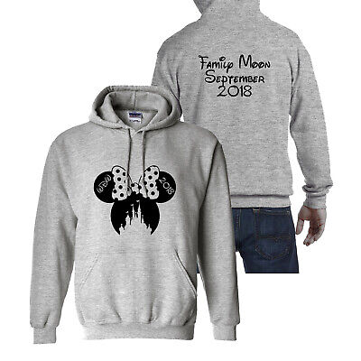 Personalised Mickey or Minnie Disney Holiday Vacation Hoodie Mens Womens Kids