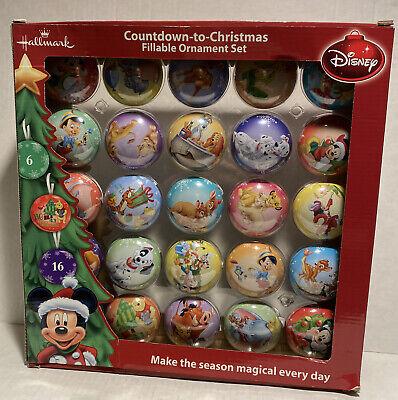 Hallmark Disney Count Down To Christmas Ornament Set Advent Calendar - NEW