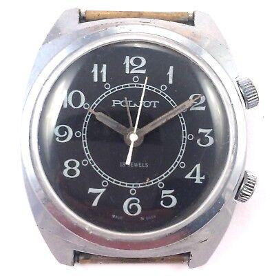 Vintage POLJOT Signal, Manual ALARM wrist watch, USSR *US SELLER* #1144