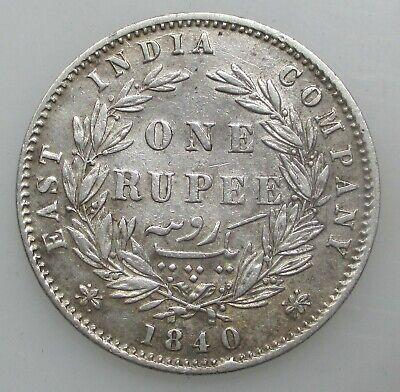 British India 1 Rupee 1840 Queen Victoria East India Company