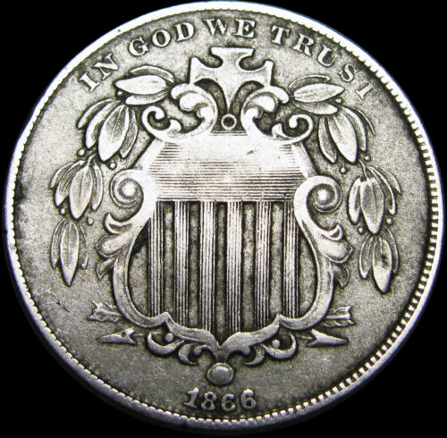 1866 w/rays Shield Nickel ---- TYPE COIN ---- #B340