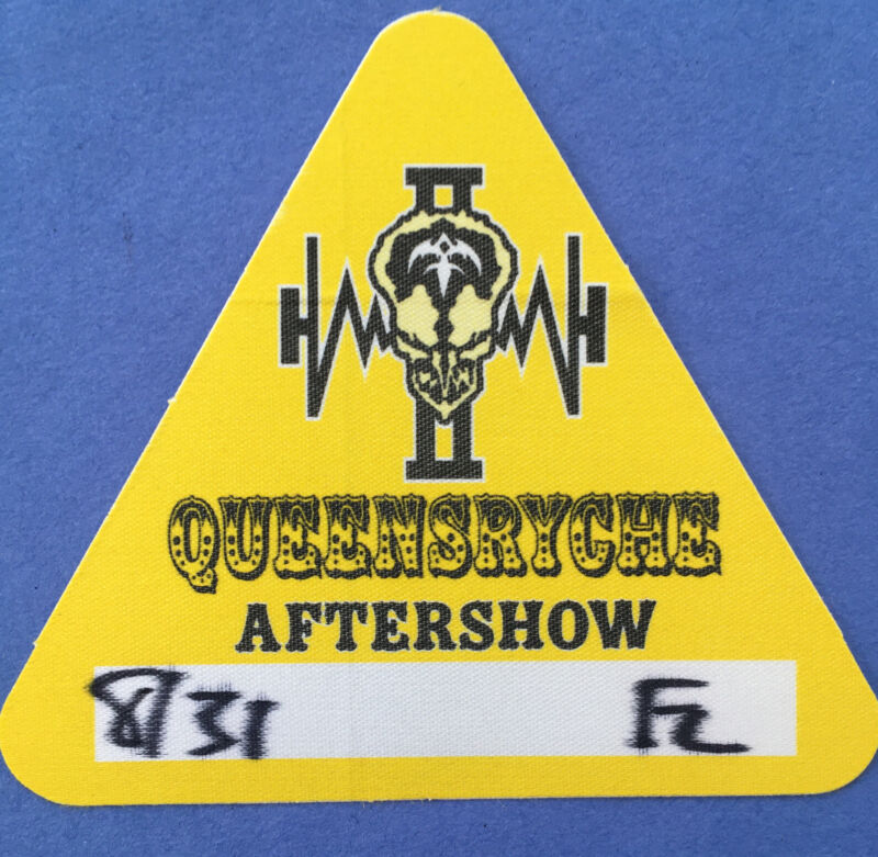 QUEENSRYCHE CLOTH BACKSTAGE PASS -  Tour Pass Unused