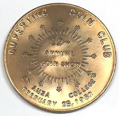 C2956   Cupertino   Ca    Bronze    Medal   Cupertino  Coin  Club  1982