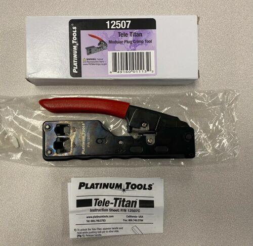 Platinum Tools 12507 Tele-Titan Modular Plug Crimp Tool NEW