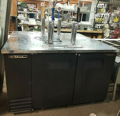 True Tdd-2-hc Direct Draw Beer Dispenser 59 - 2 Keg Kegerator With 2 Taps