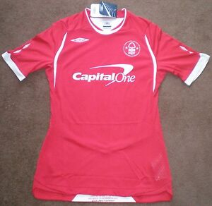 BNWT-NEW-Umbro-Nottingham-Forest-FC-Home-Football-Shirt-SS-Ladies-2008-09