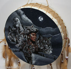 Indian drum animals design feathers native american design for American indian design and decoration