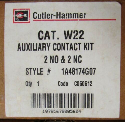 EATON CUTLER HAMMER W22 Advantage Auxiliary Contact 2 NO 2 NC 1A48174G07